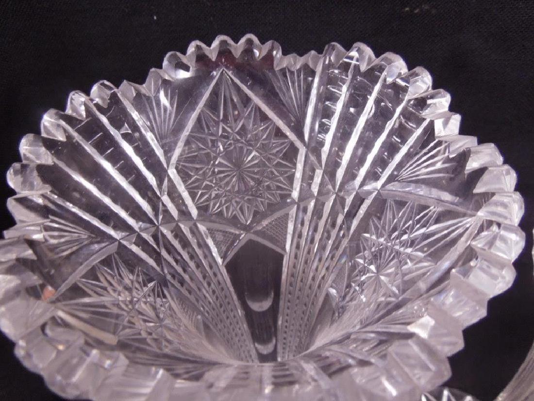Three American Cut Glass Trumpet Vases - 2
