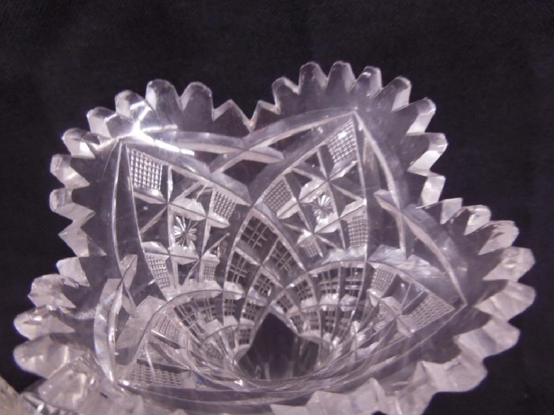 Three American Cut Glass Trumpet Vases - 6