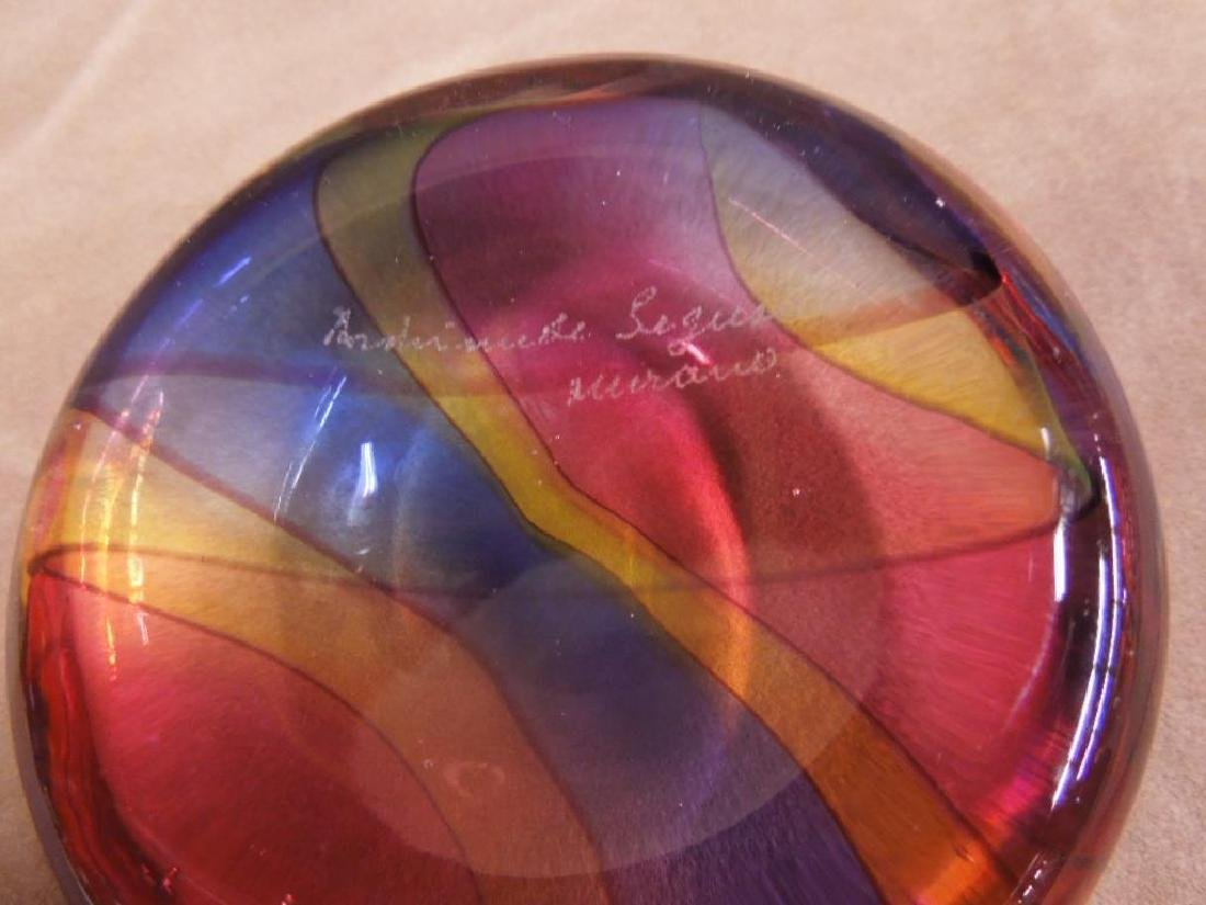 A. Sequso Murano Glass Paperweight - 3