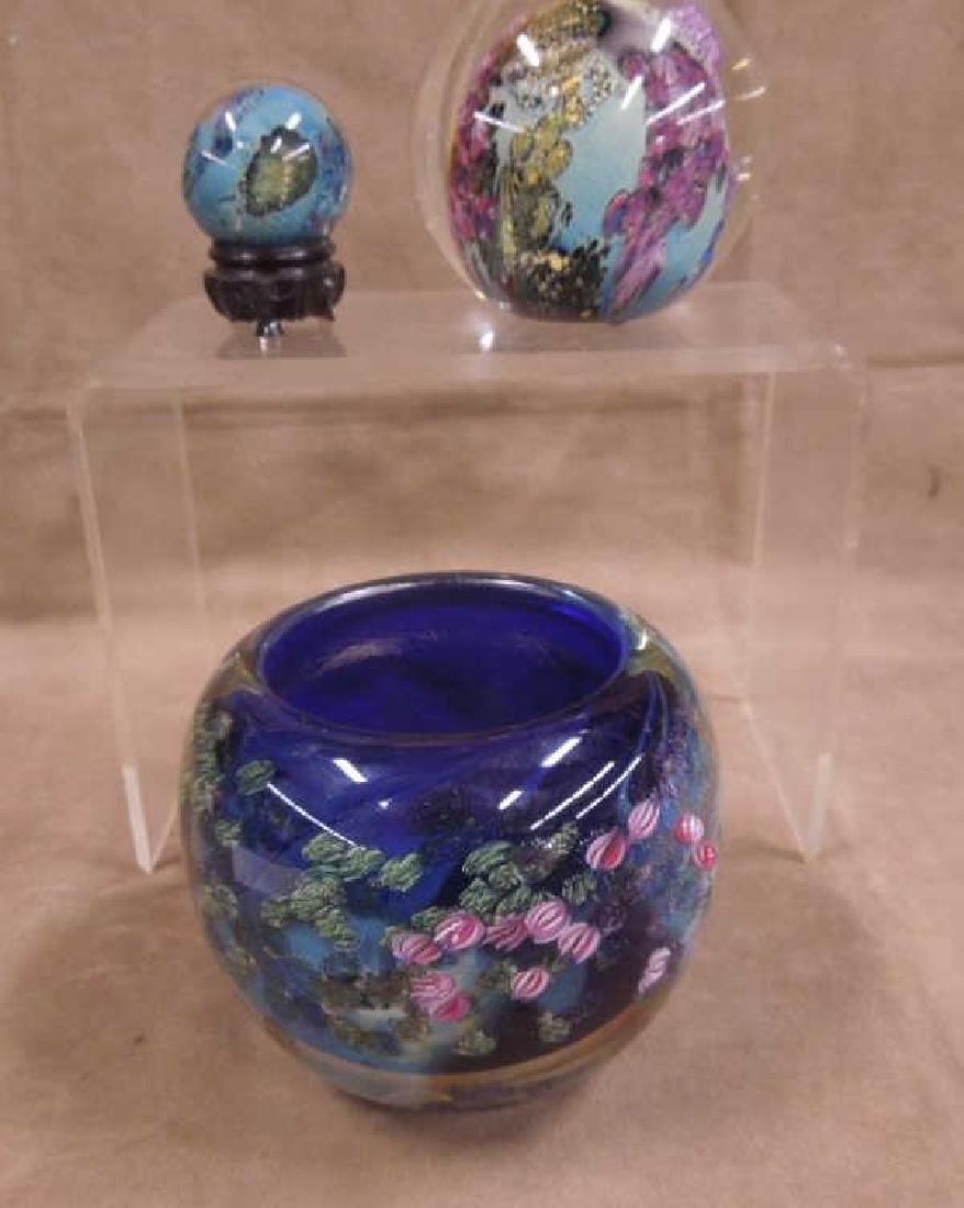 3 Simpson Art Glass Pieces