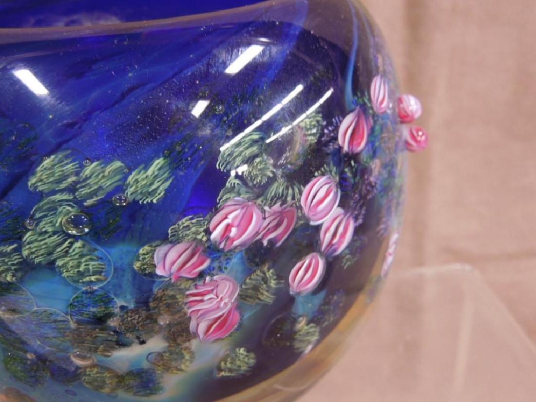 3 Simpson Art Glass Pieces - 8