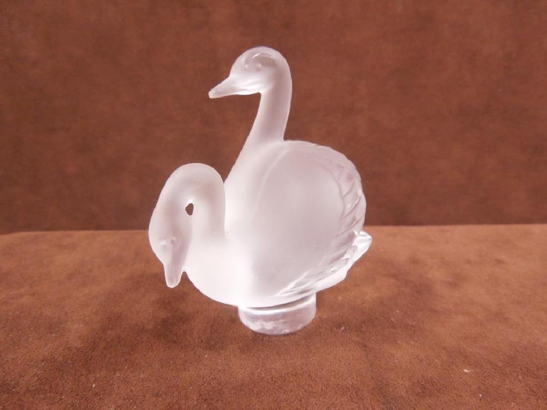 Lalique Swans Figure