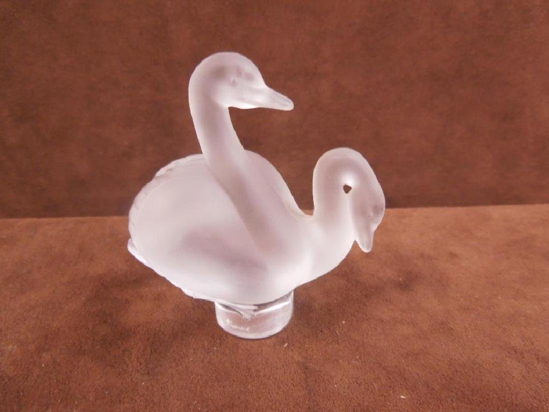 Lalique Swans Figure - 3
