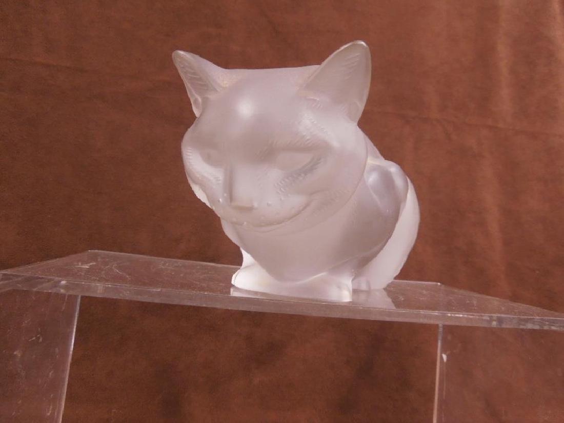 Large Lalique Crouching Cat - 3