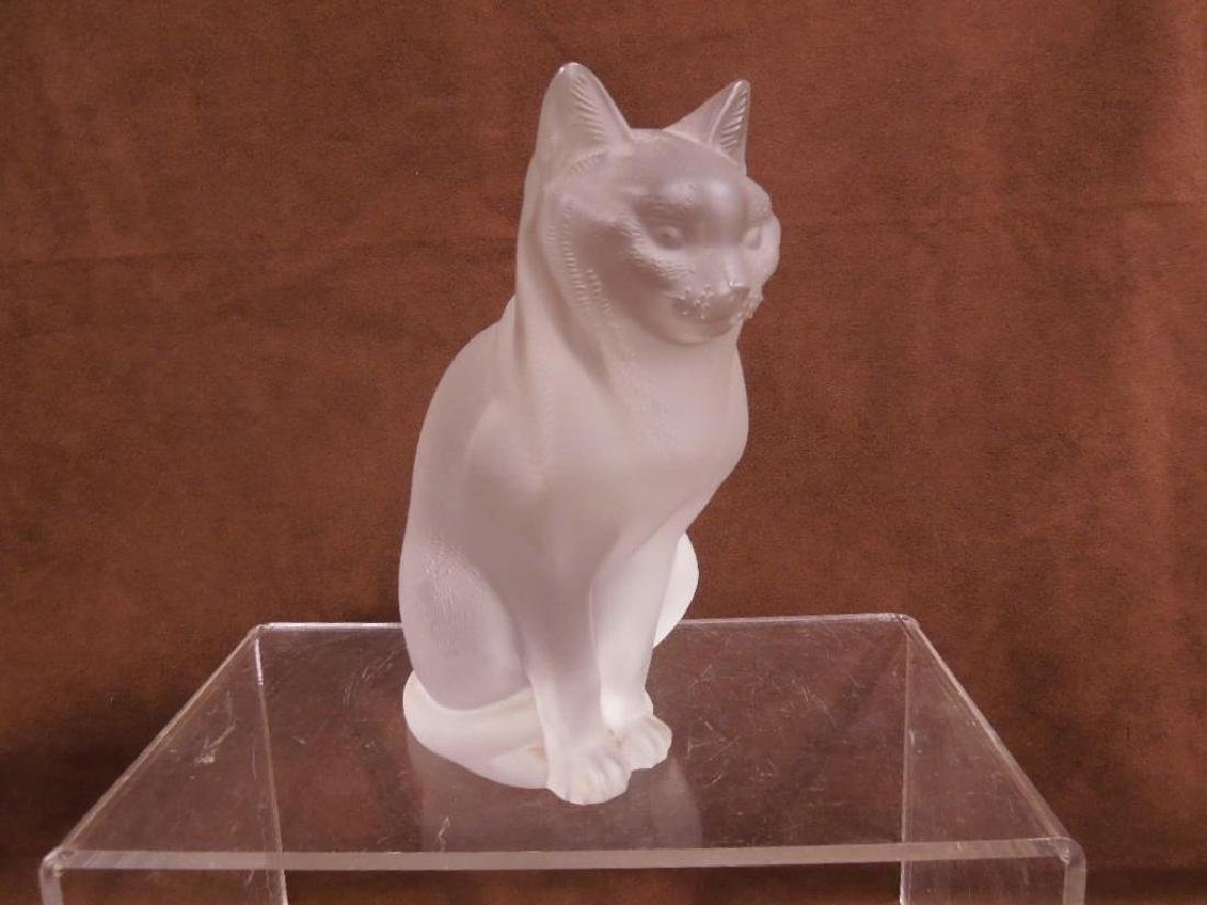 Large Lalique Seated Cat