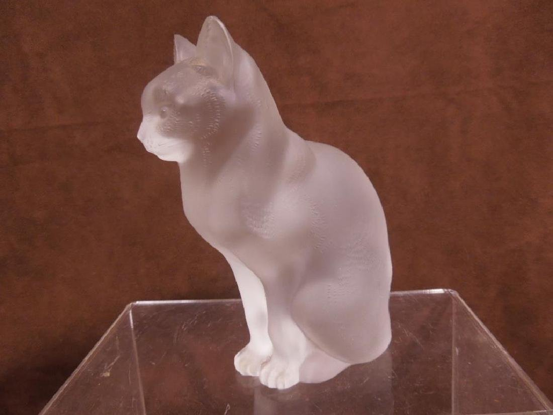 Large Lalique Seated Cat - 2