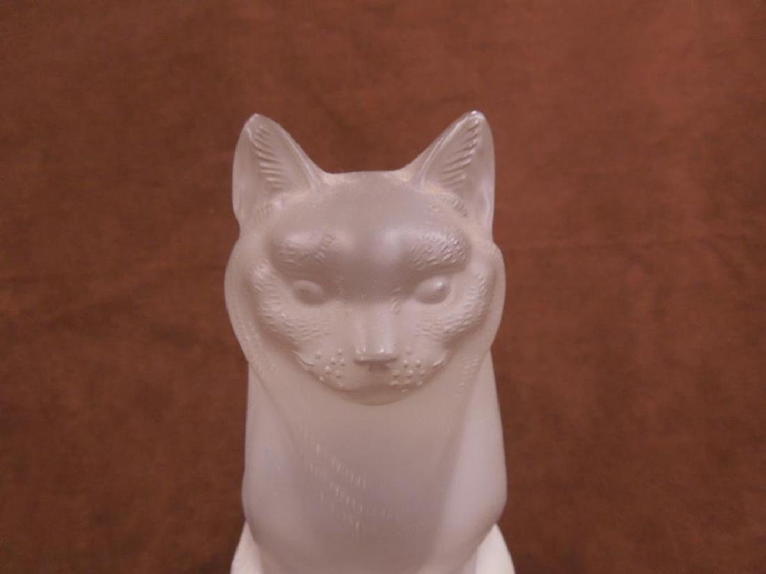 Large Lalique Seated Cat - 4