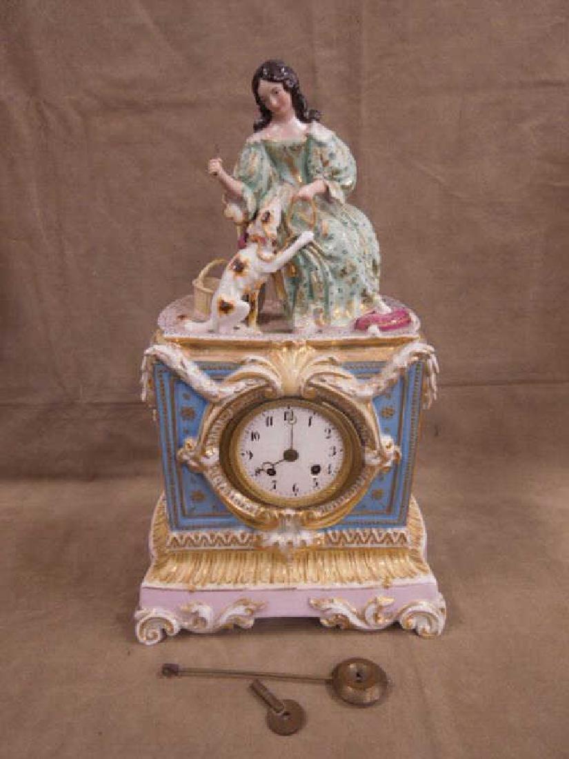 Fraye Figural Porcelain Clock