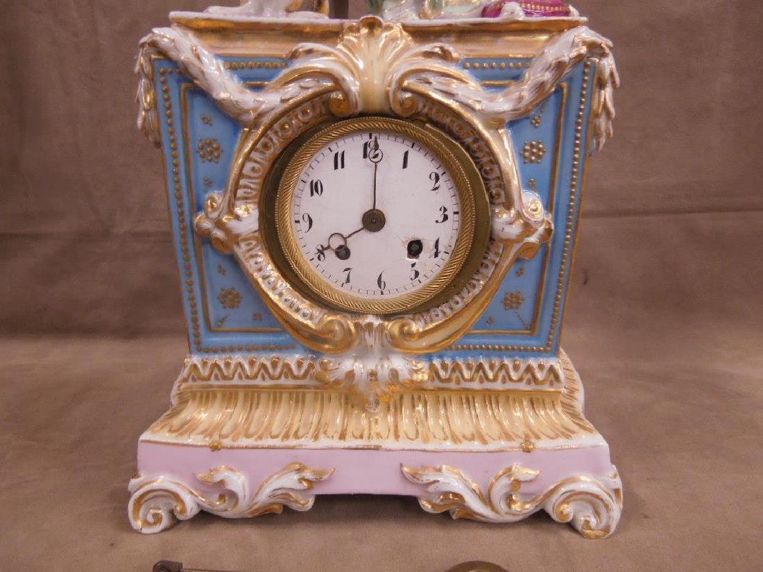 Fraye Figural Porcelain Clock - 4