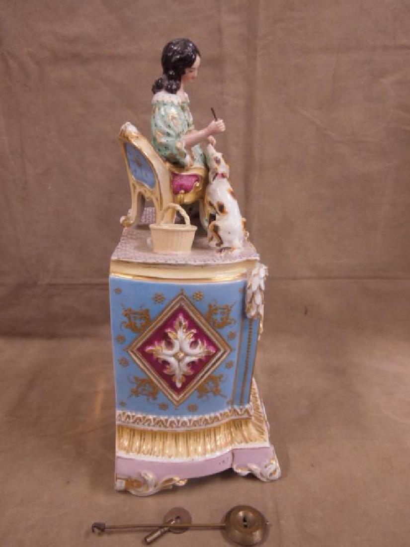 Fraye Figural Porcelain Clock - 9
