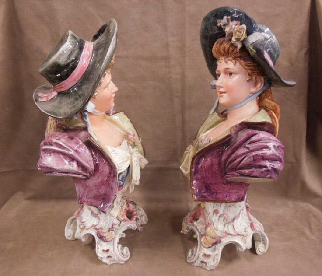 Pr Victorian Faience Busts - 2
