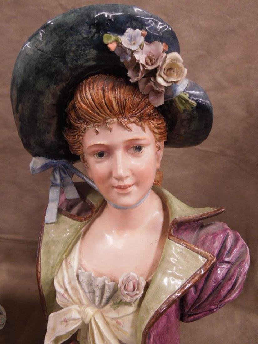 Pr Victorian Faience Busts - 5