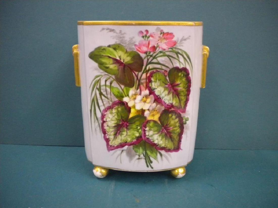 Victorian Porcelain hand Painted Vase