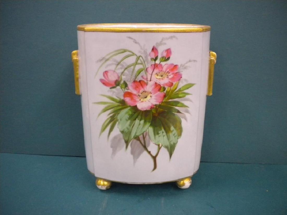 Victorian Porcelain hand Painted Vase - 2