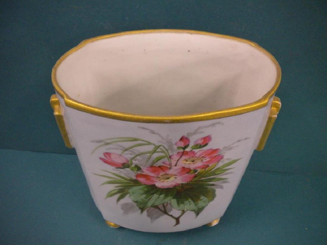 Victorian Porcelain hand Painted Vase - 3