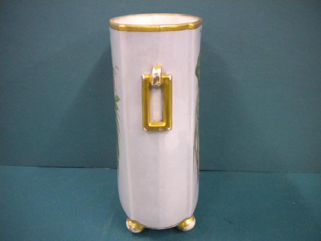 Victorian Porcelain hand Painted Vase - 4