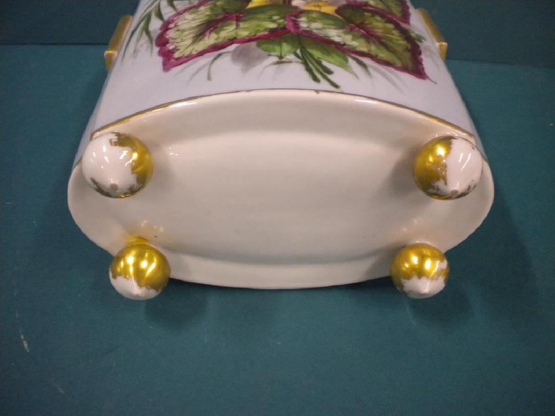 Victorian Porcelain hand Painted Vase - 5