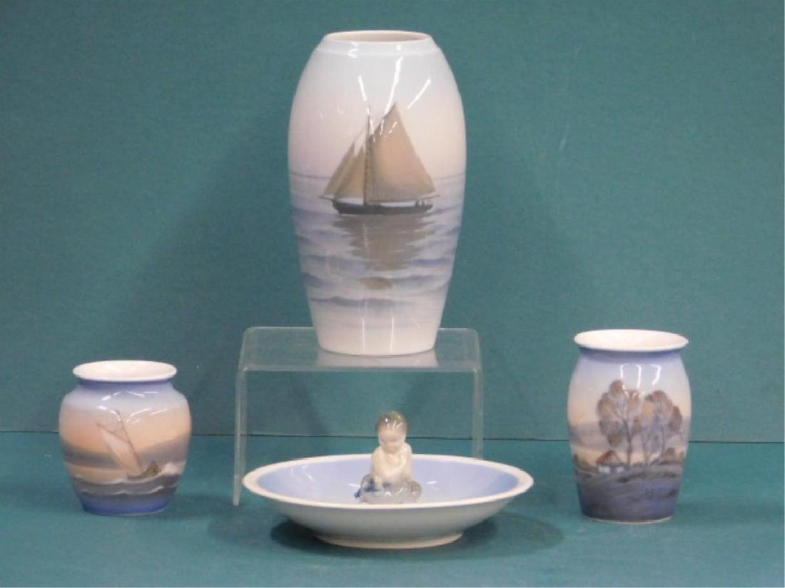 4 Pcs Denmark Porcelain