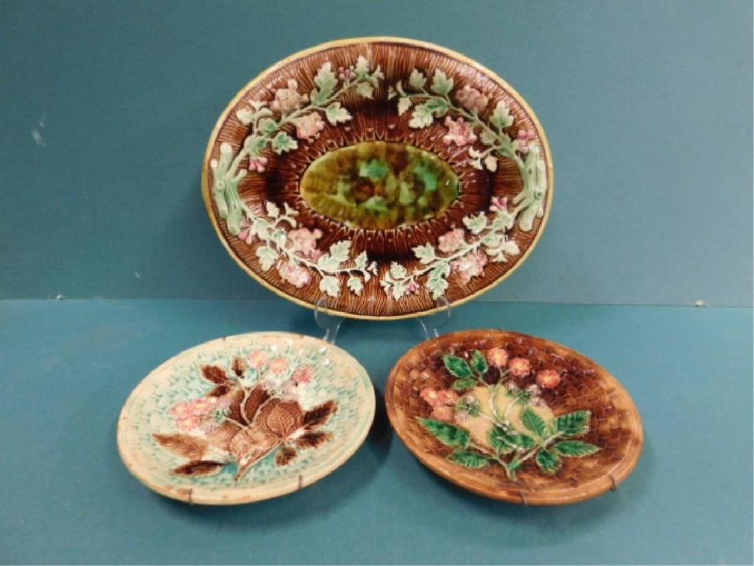 Majolica Platter & Dishes