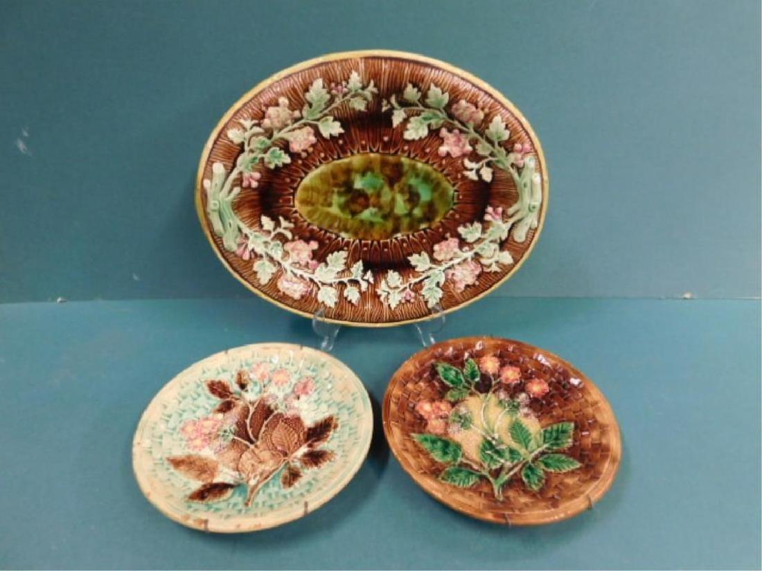 Majolica Platter & Dishes - 2
