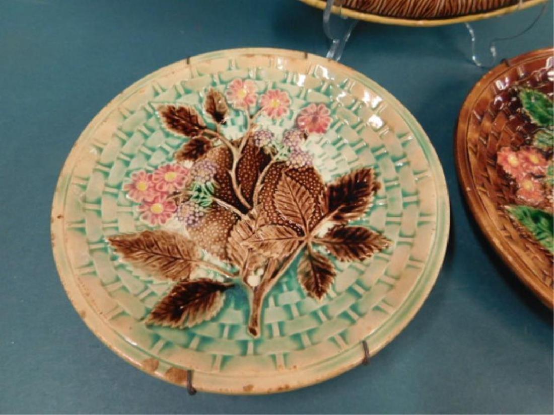 Majolica Platter & Dishes - 3