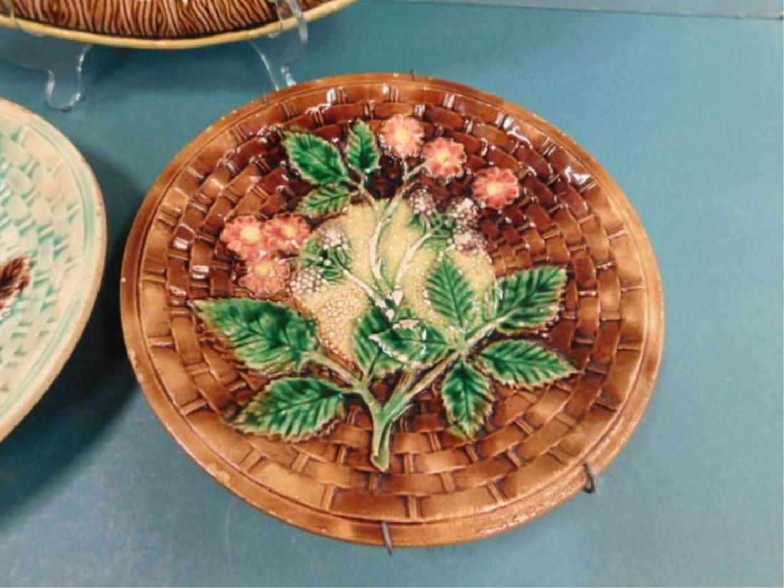 Majolica Platter & Dishes - 4