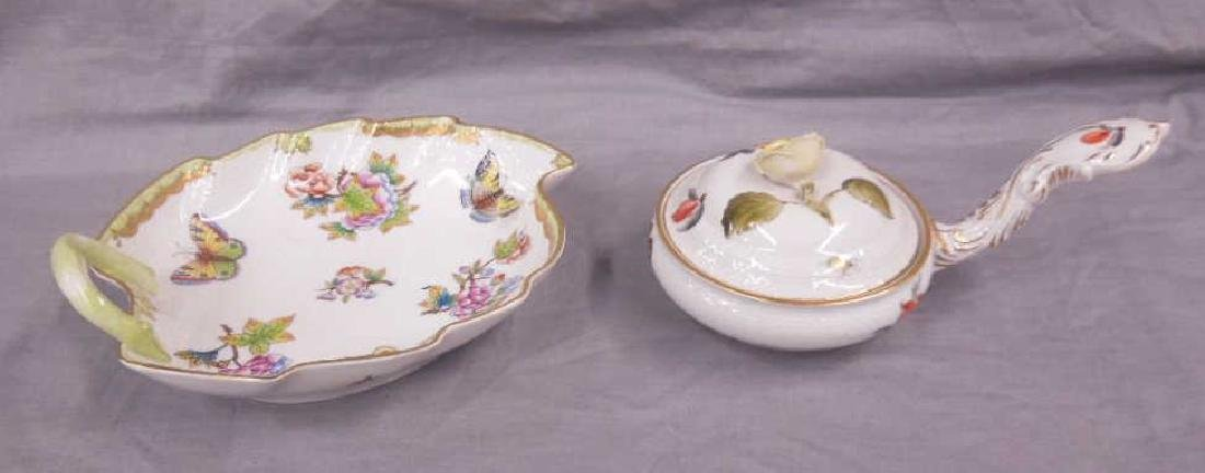 2 Herend Porcelain Pieces