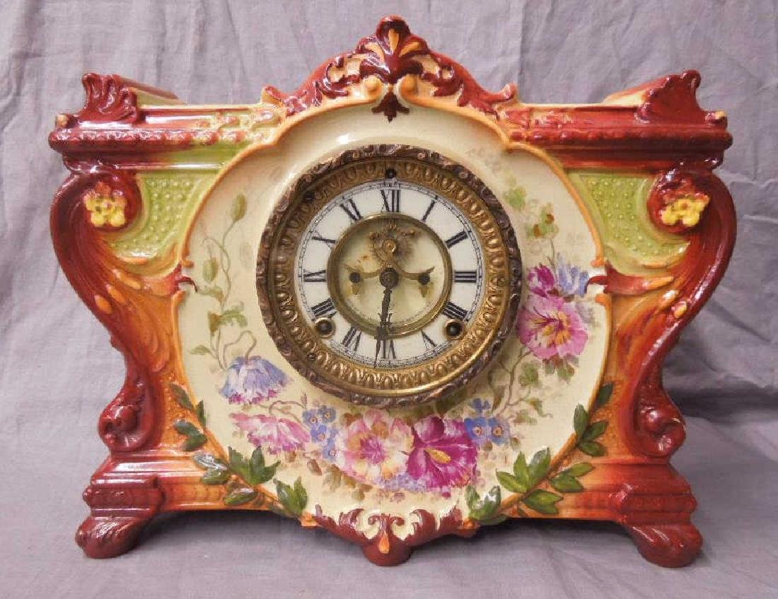 Royal Bonn Porcelain Mantle Clock