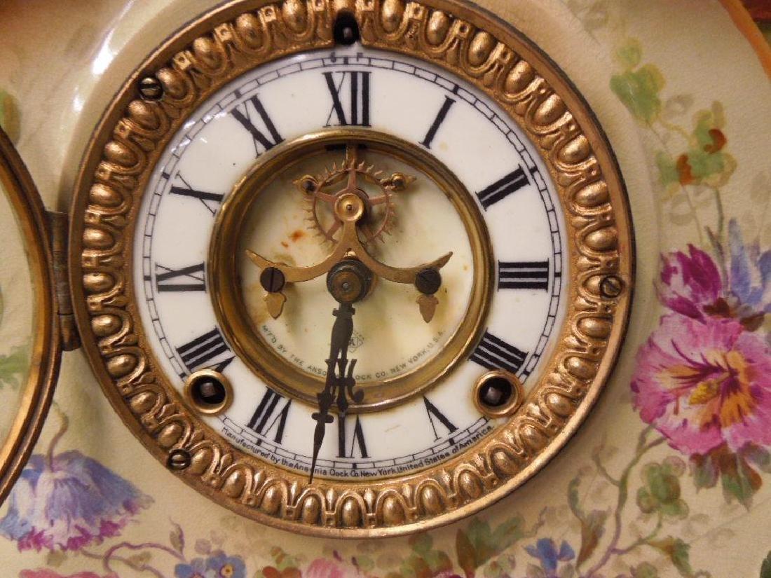 Royal Bonn Porcelain Mantle Clock - 3