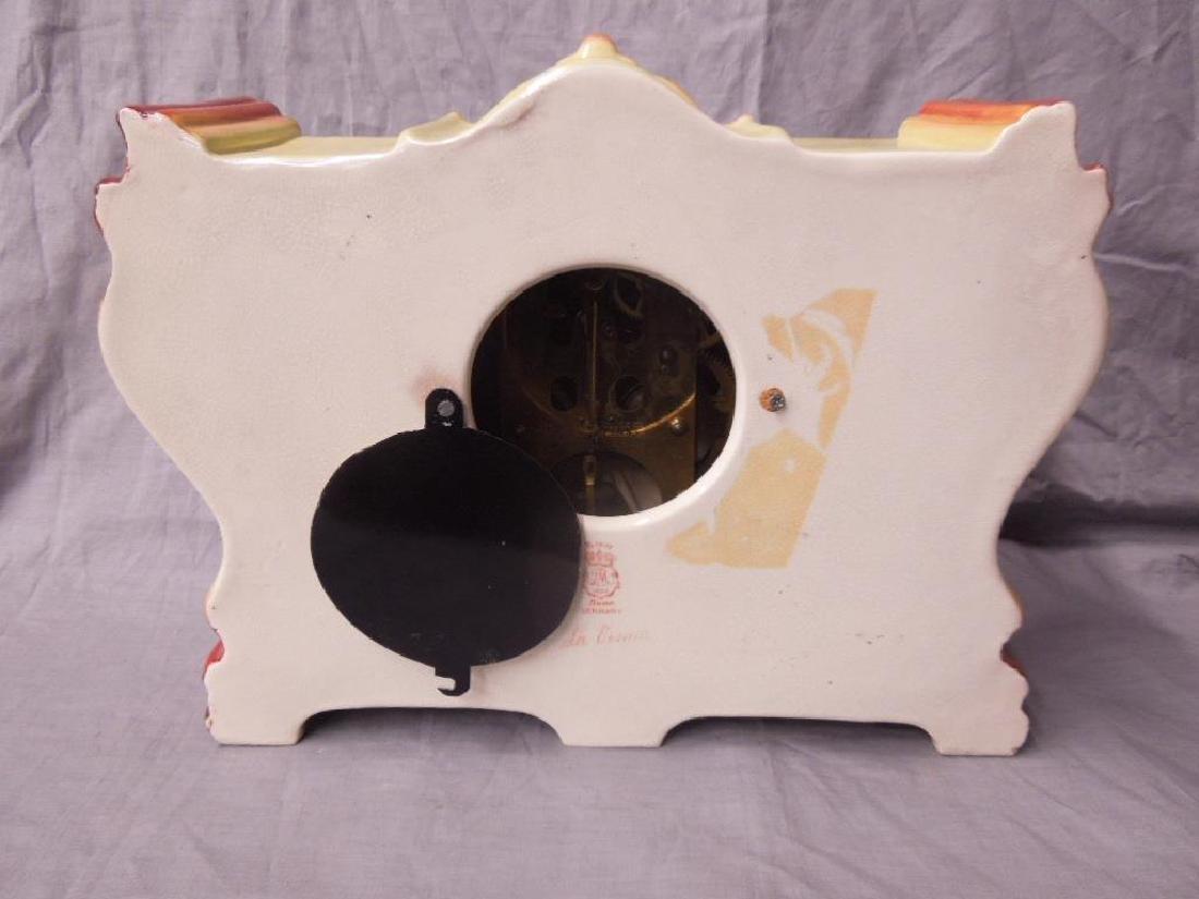 Royal Bonn Porcelain Mantle Clock - 5