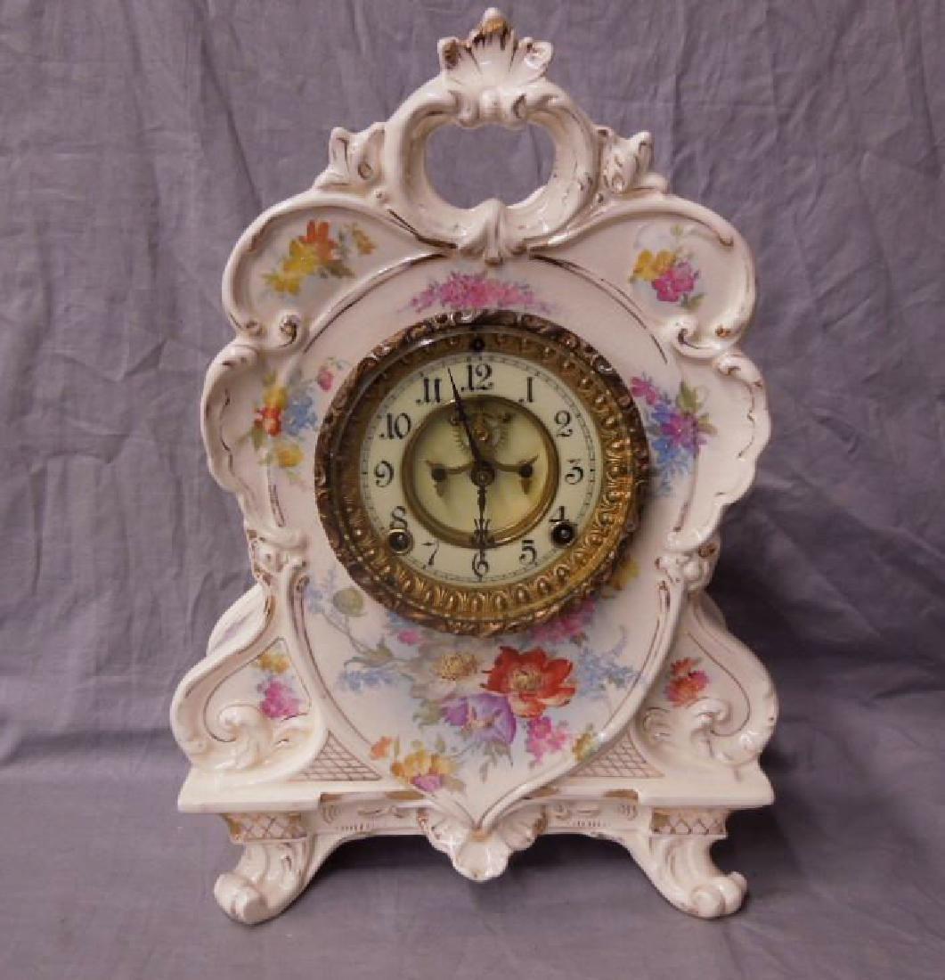 Royal Bonn Porcelain Mantel Clock