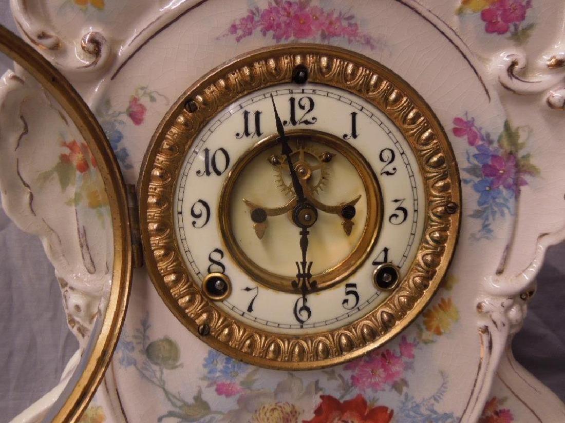 Royal Bonn Porcelain Mantel Clock - 2
