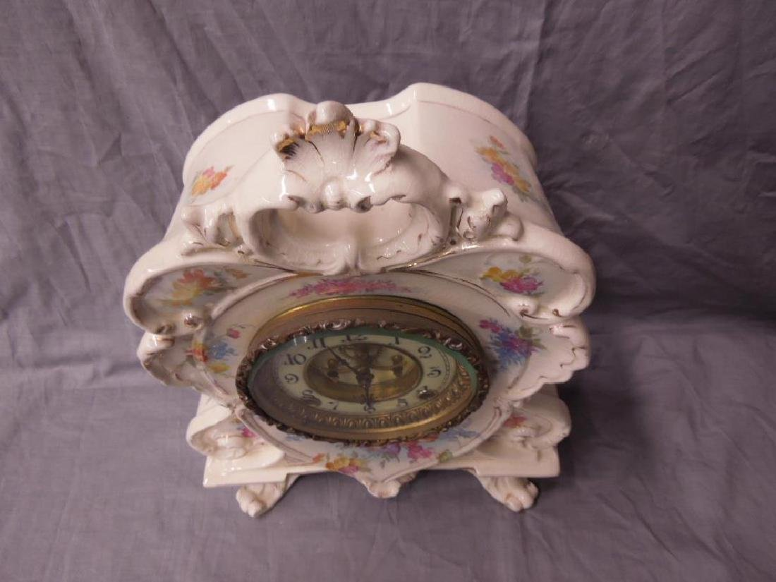 Royal Bonn Porcelain Mantel Clock - 3