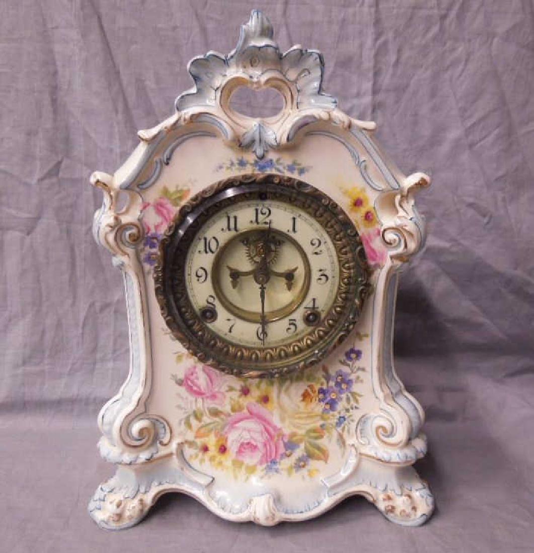 Royal Bonn Porcelain Mantle Clock