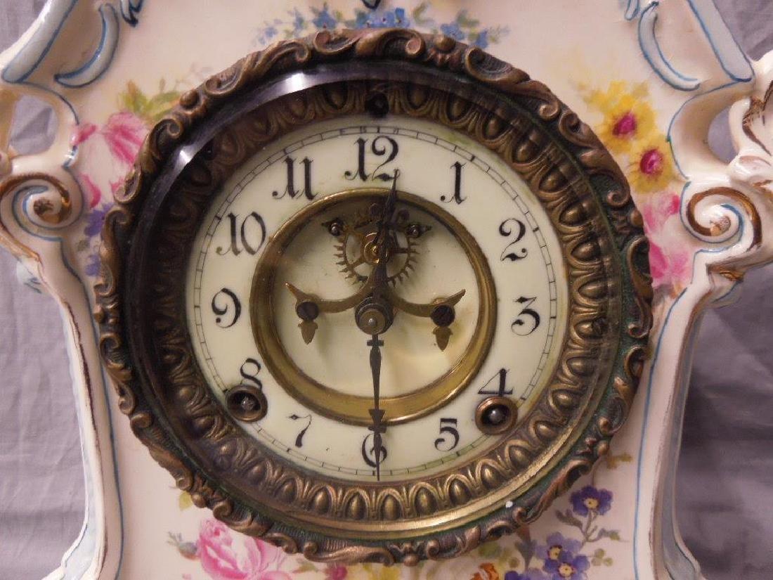 Royal Bonn Porcelain Mantle Clock - 2