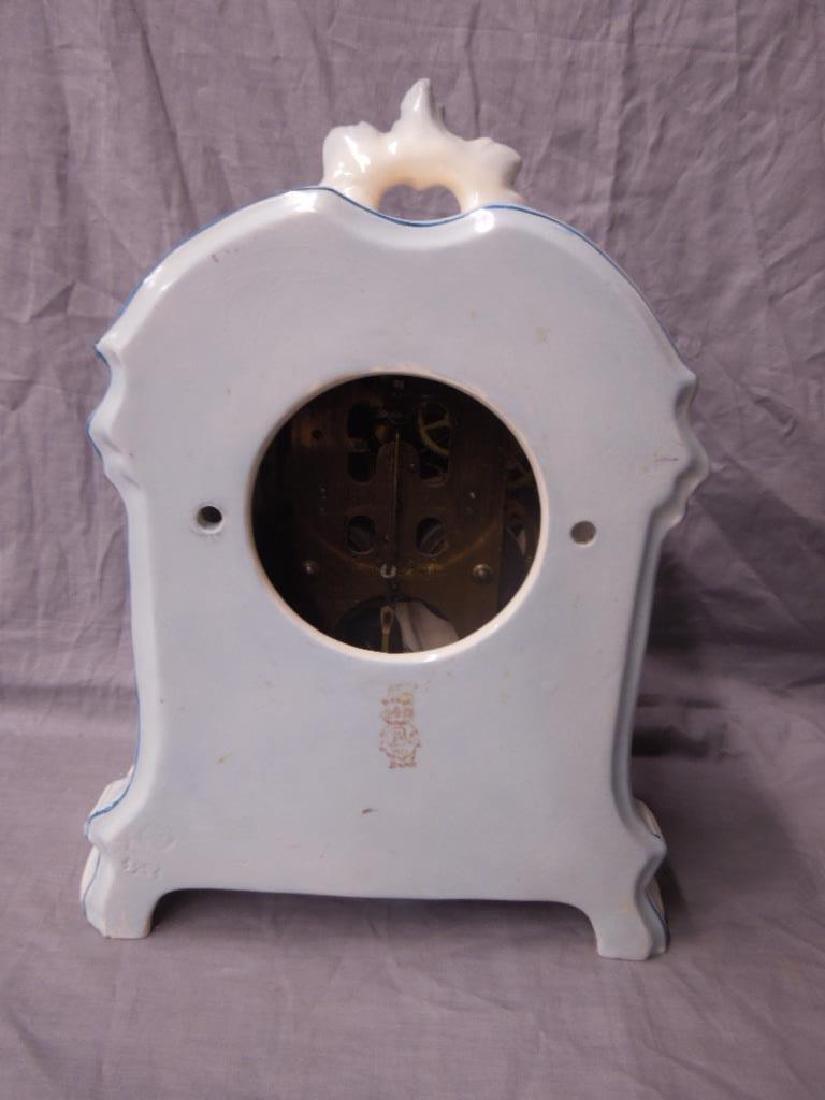 Royal Bonn Porcelain Mantle Clock - 4