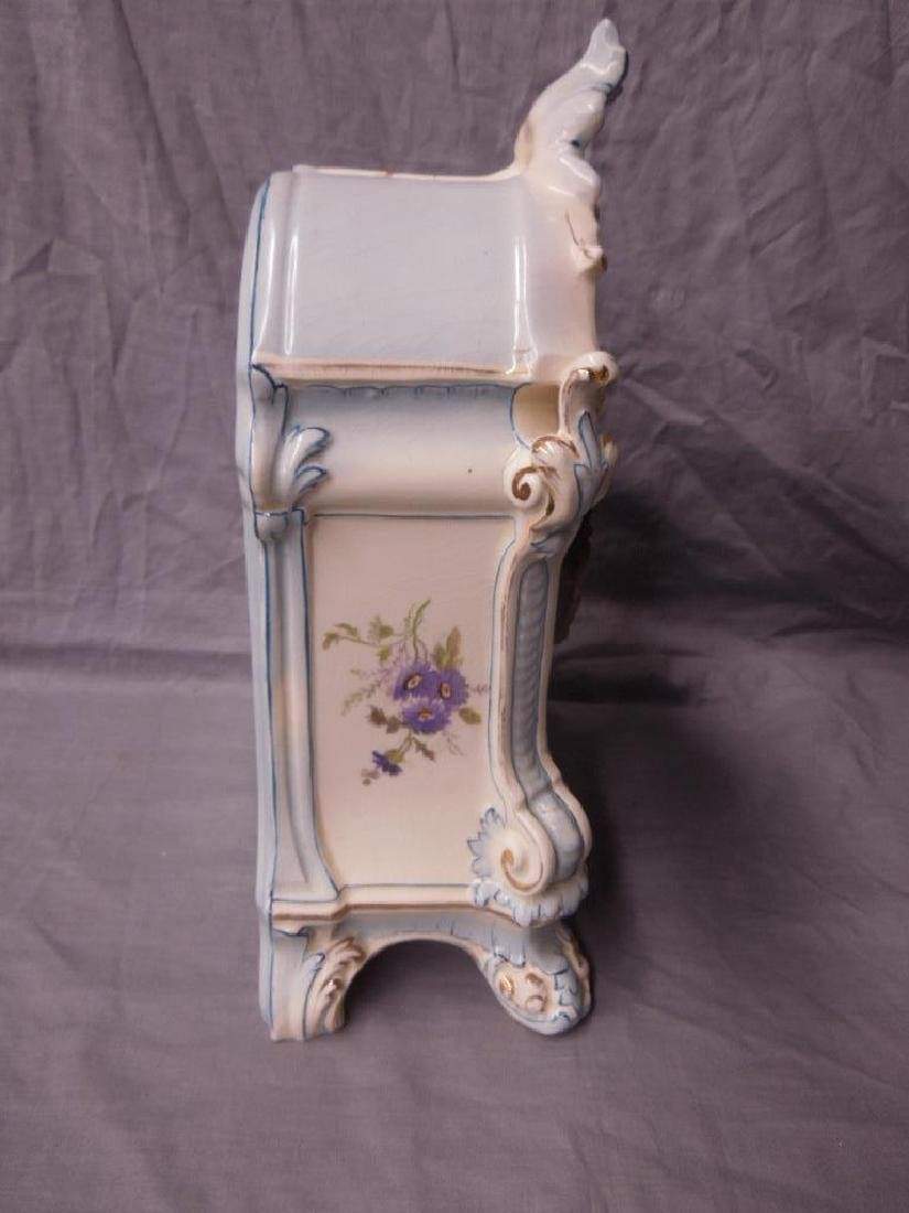 Royal Bonn Porcelain Mantle Clock - 7