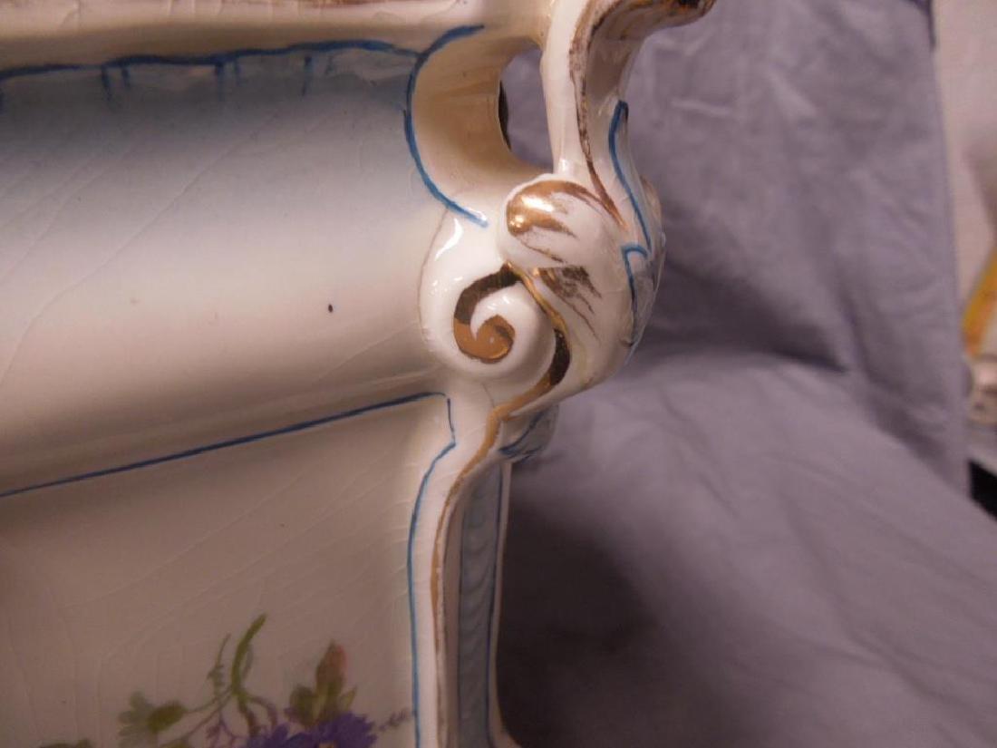 Royal Bonn Porcelain Mantle Clock - 8