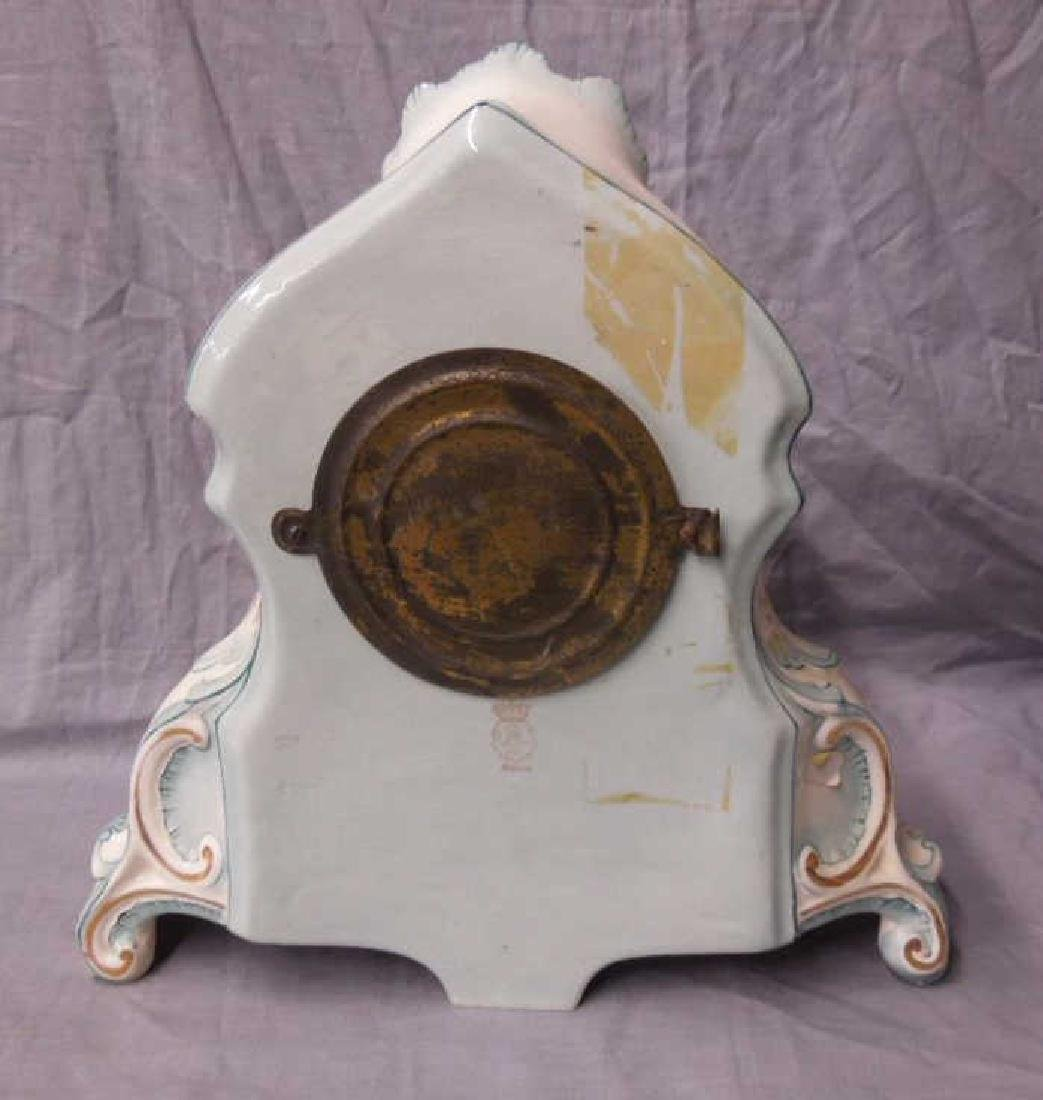 Royal Bonn Porcelain Mantle Clock - 5