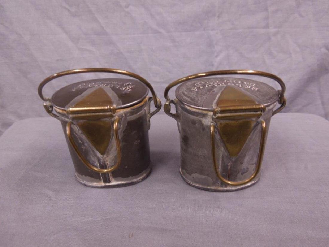 2 Antique Pewter English Dairy Containers - 2