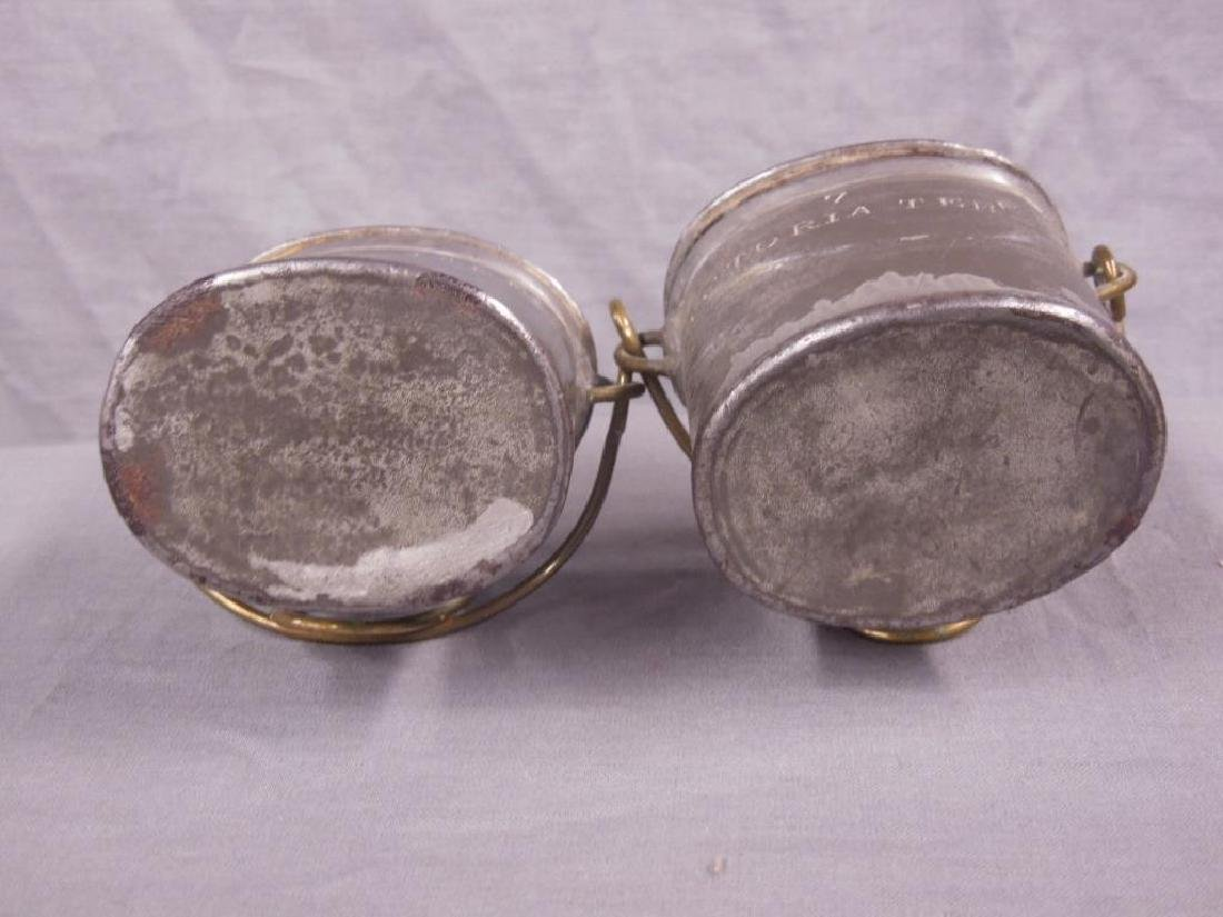 2 Antique Pewter English Dairy Containers - 5