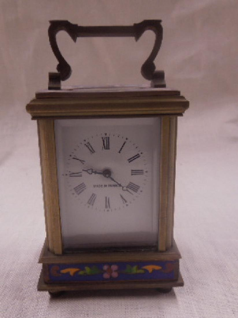 Brass & Cloisonne Carriage Clock