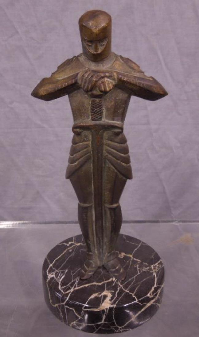 Bronze Sculpture of a Knight
