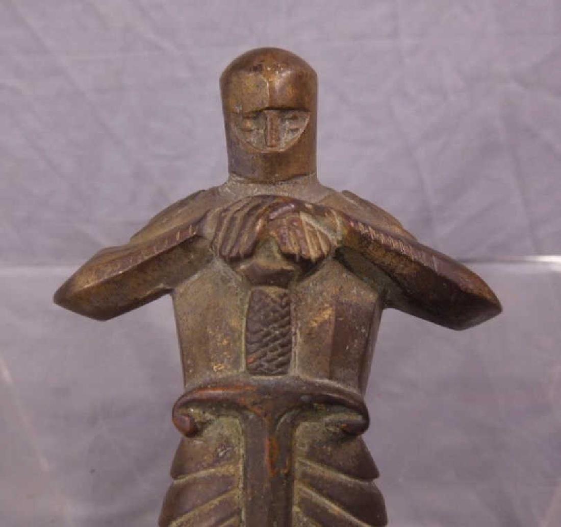 Bronze Sculpture of a Knight - 4