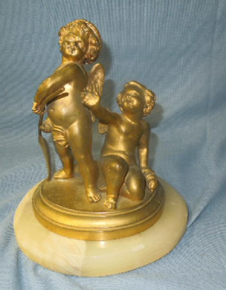 Continental Bronze Cherubs Figure