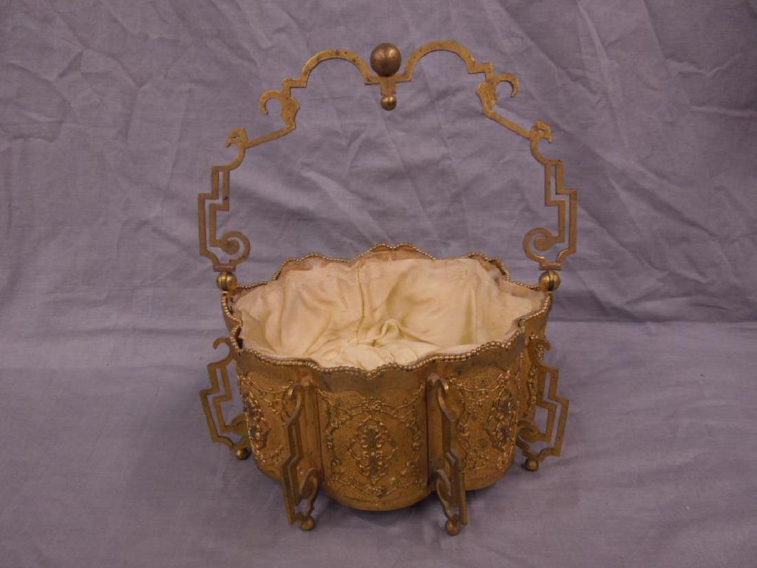 Victorian Gilt Metal Basket