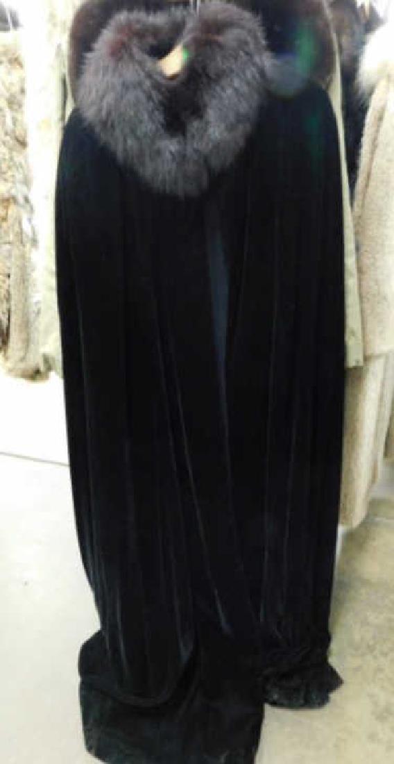 Vintage Black Velvet Cape