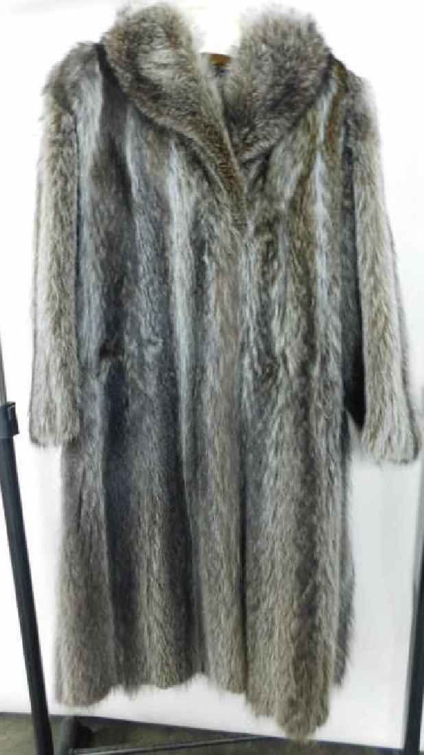 Full Length Raccoon Coat