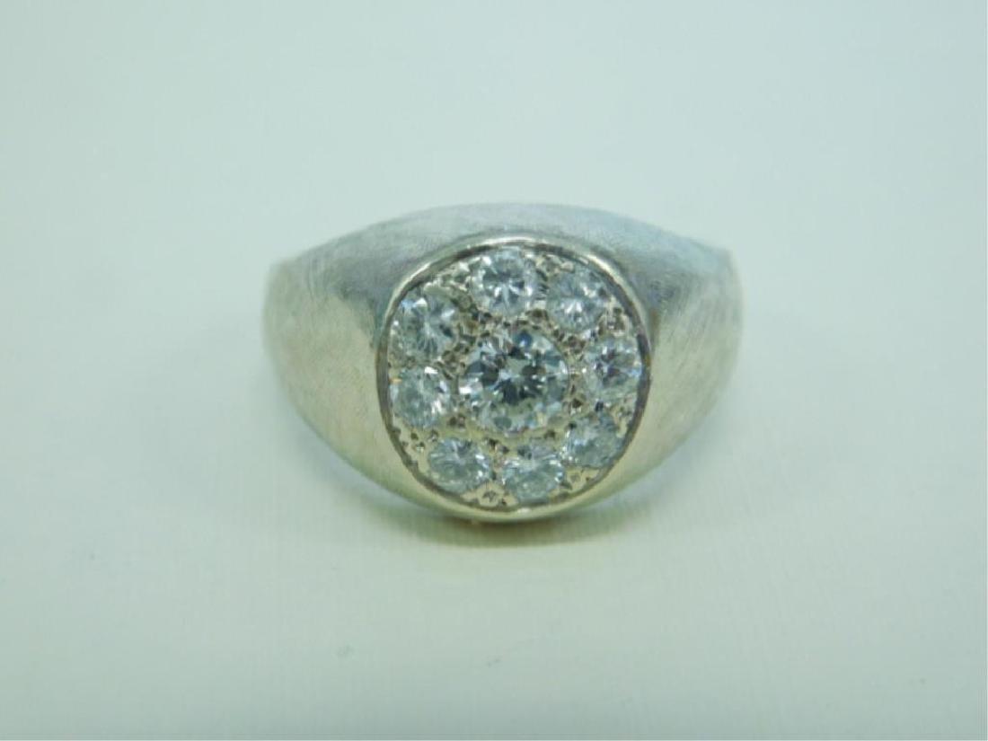 14K WG Man's Diamond Ring