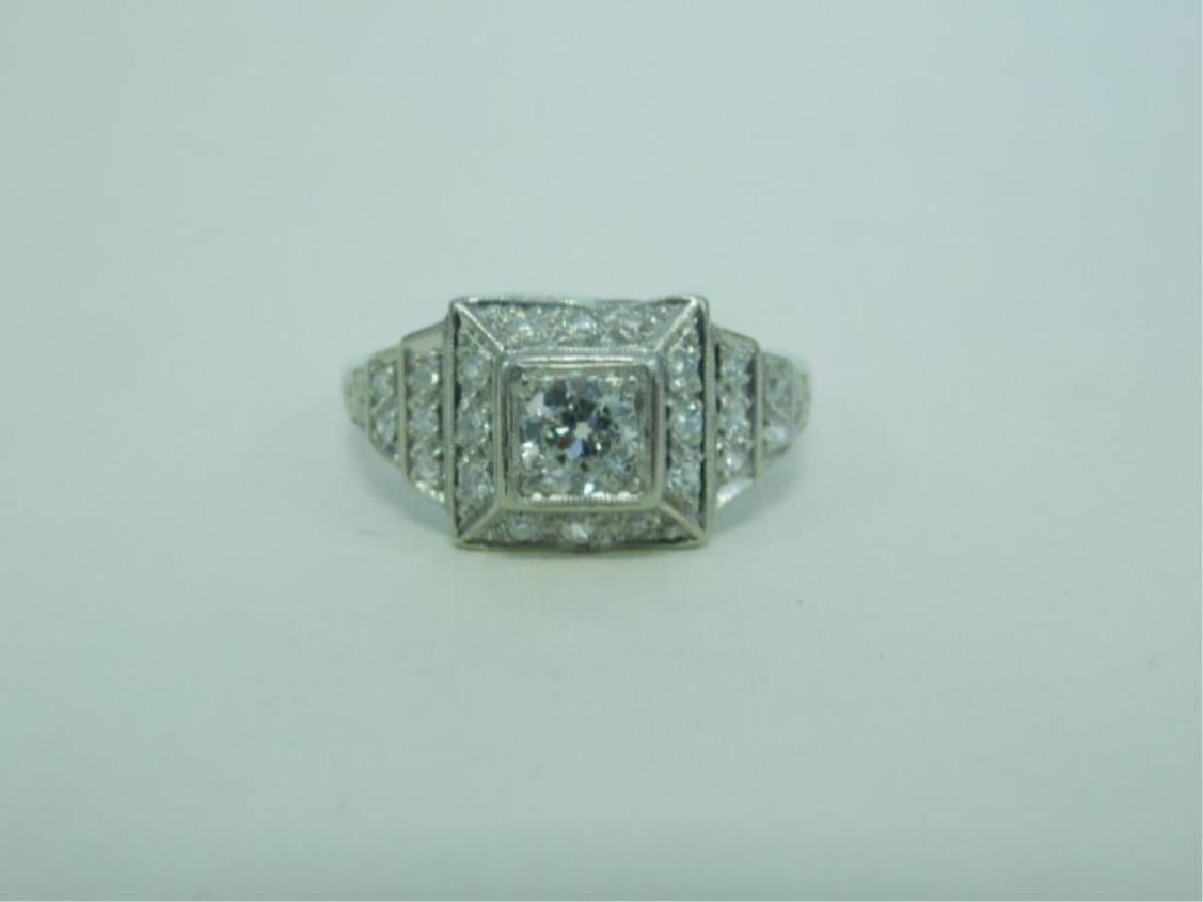 Platinum Deco Diamond Ring